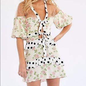 For love or lemons butterscotch sheer dress